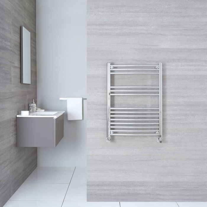 "Etna - Hydronic Chrome Heated Towel Warmer - 31.5"" x 23.5"""