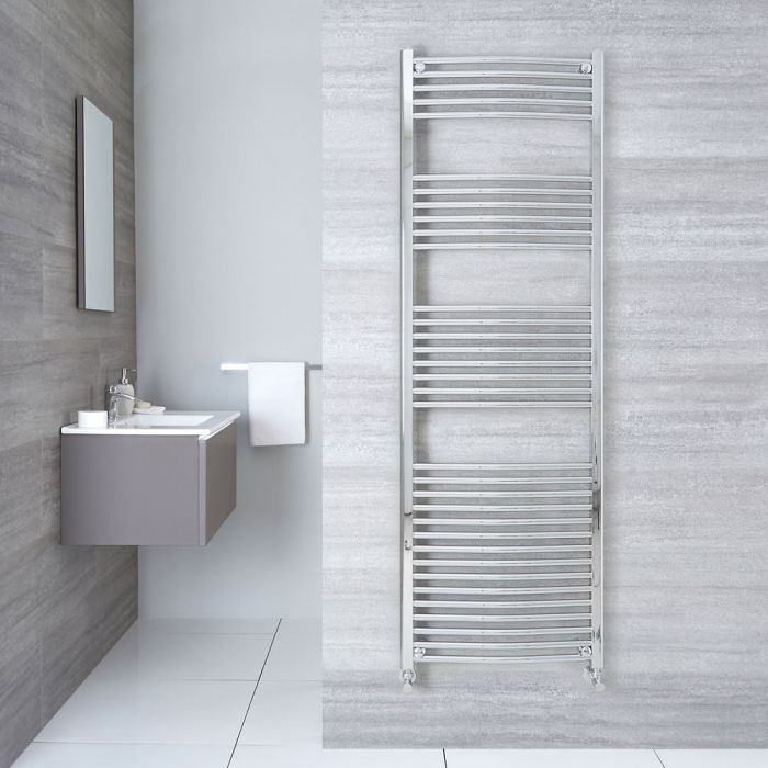 Etna - Hydronic Chrome Heated Towel Warmer - 70.75