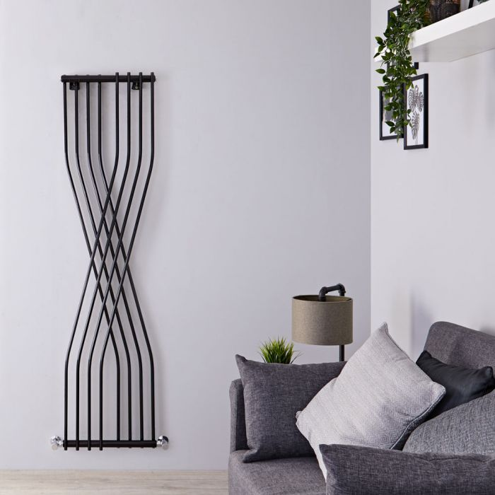 Xcite - Black Vertical Designer Radiator - 70