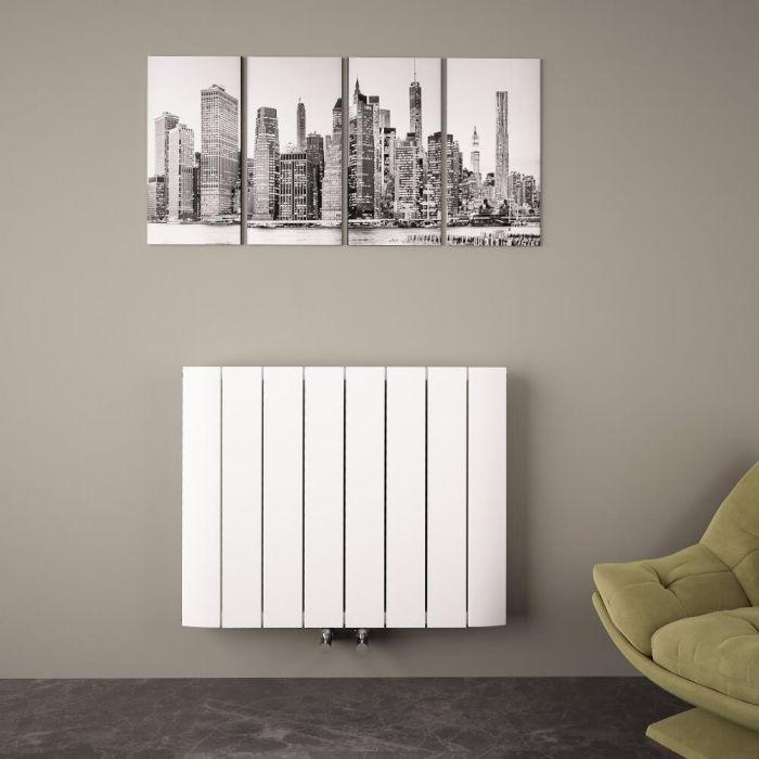 "Aurora - White Aluminum Horizontal Designer Radiator - 23.5"" x 29.75"""