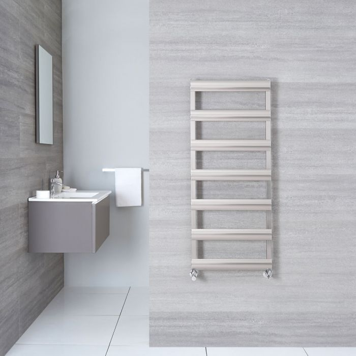 "Gradus  - Brushed Chrome Hydronic Towel Warmer - 46.75"" x 19.75"""