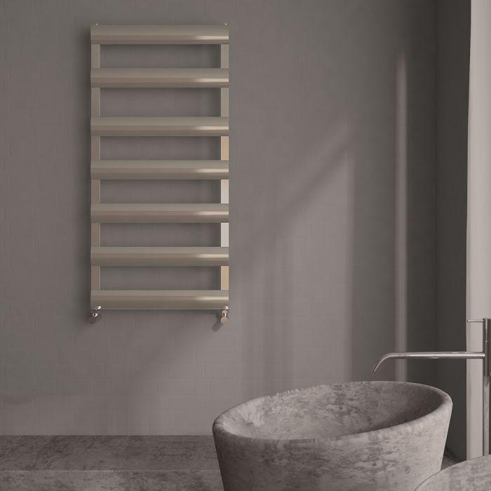 "Gradus  - Brushed Chrome Hydronic Towel Warmer - 46.75"" x 19.75"""