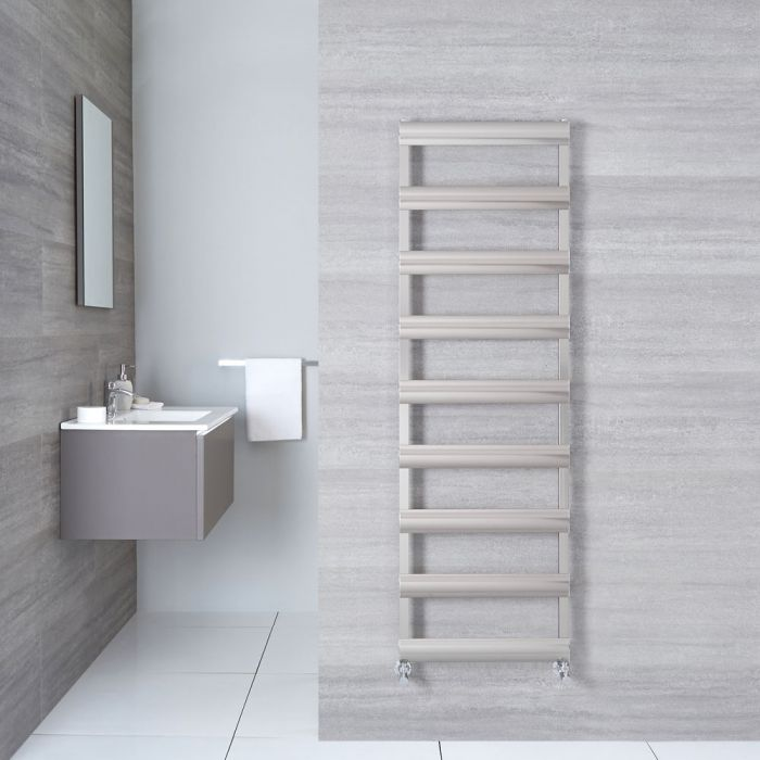 "Gradus  - Brushed Chrome Hydronic Towel Warmer - 62.5"" x 19.75"""