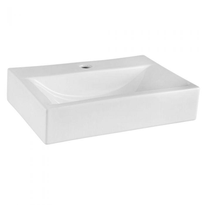 Modern Rectangular Porcelain Vessel Sink 18