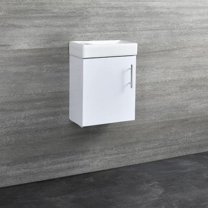 400mm Gloss White Wall Hung Vanity Unit
