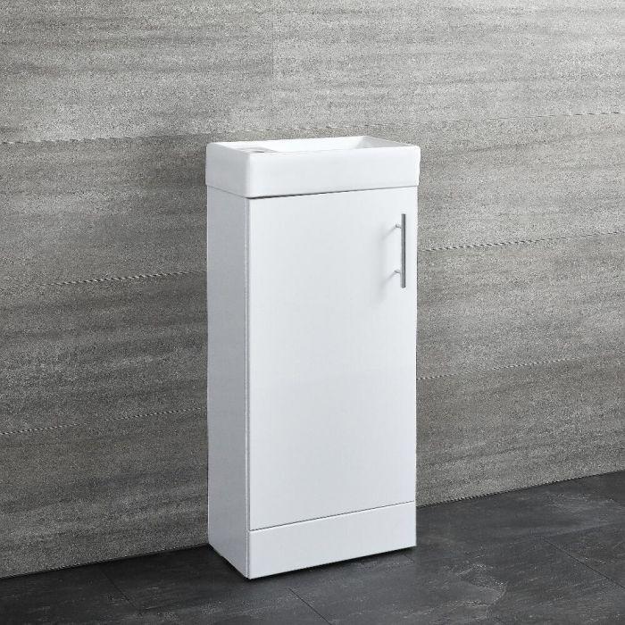 400mm Gloss White Floor Standing Vanity Unit