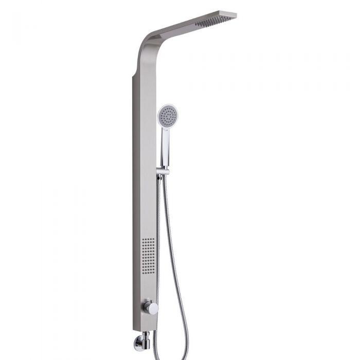 Harding Stainless Steel Rigid Shower Kit, Bottom Inlet Brushed Finish