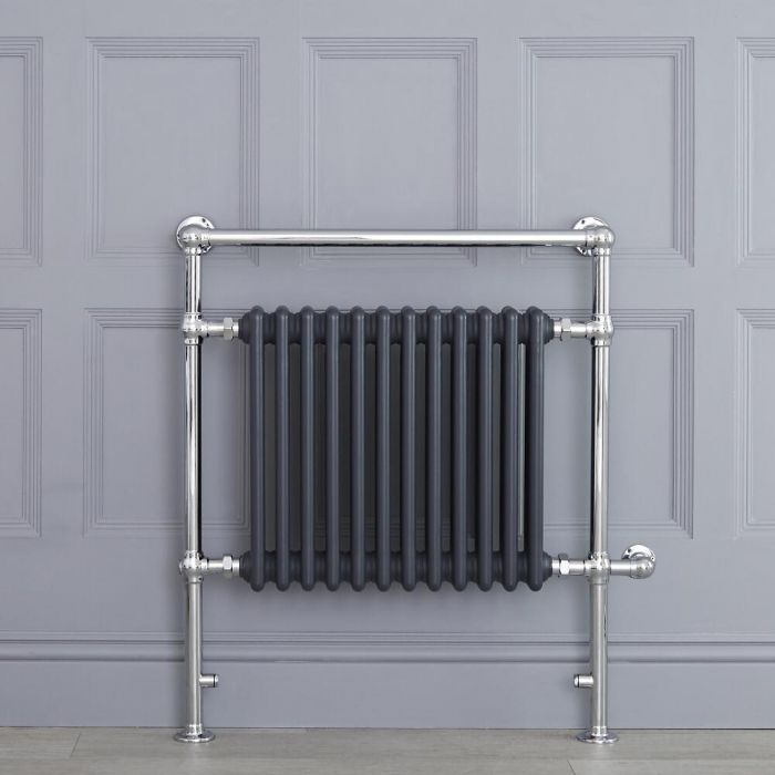 "Marquis Electric  - Anthracite Traditional Heated Towel Warmer - 36.75"" x 31.25"""