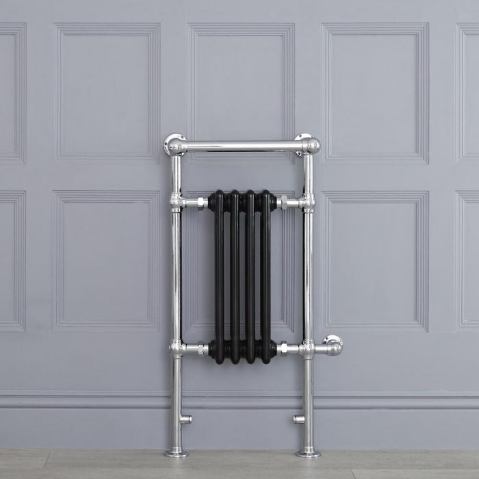 "Marquis Electric  - Black Traditional Heated Towel Warmer with Shelf  - 36.75"" x 17.75"""