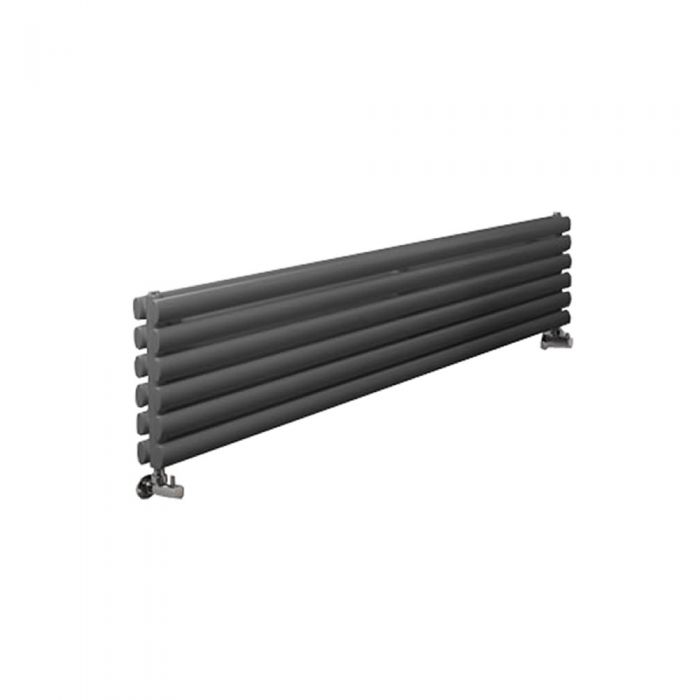 "Revive - Anthracite Horizontal Double-Panel Designer Radiator - 14"" x 70"""