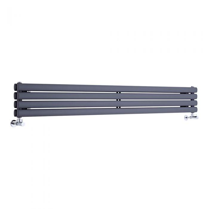 """Revive - Anthracite Horizontal Double-Panel Designer Radiator - 9.25"""" x 70"""""""
