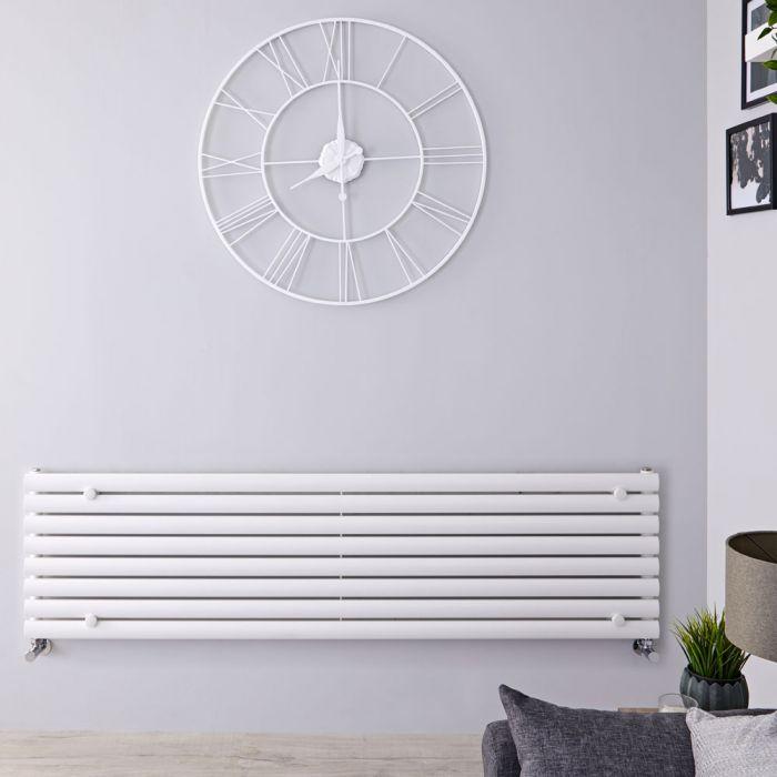 "Revive - White Horizontal Single-Panel Designer Radiator - 18.5"" x 70"""