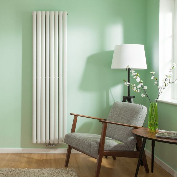 Revive Centrix - White Vertical Double-Panel Designer Radiator - 70
