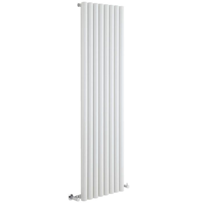 "Savy - White Vertical Single-Panel Designer Radiator - 70"" x 18.5"""
