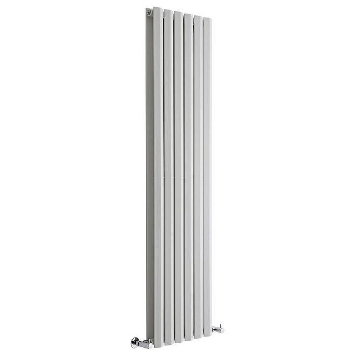"Edifice - White Vertical Double-Panel Designer Radiator - 70"" x 16.5"""