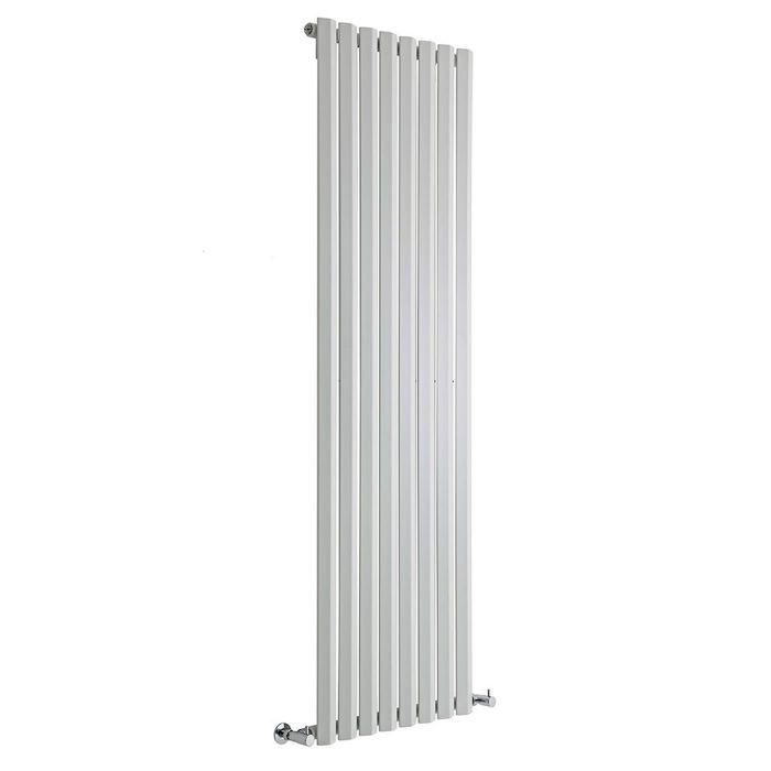 "Edifice - White Vertical Single-Panel Designer Radiator - 70"" x 22"""