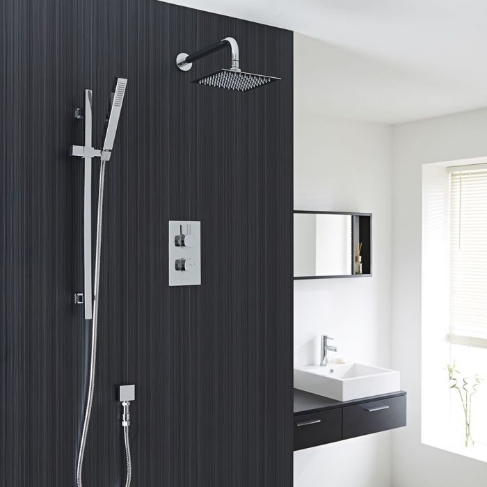Kia/jule Twin Concealed Thermostatic Shower With Diverter, 8