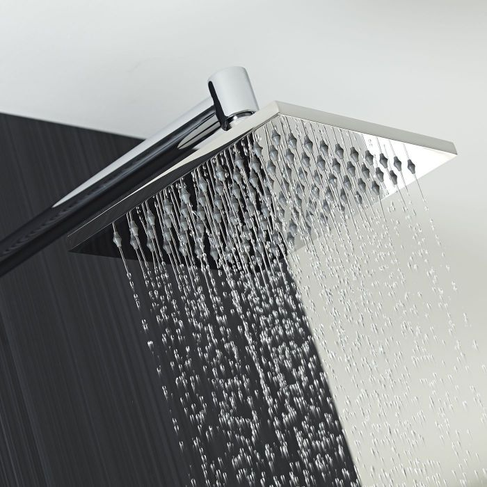 "8"" Square Rainshower Head & Arm"