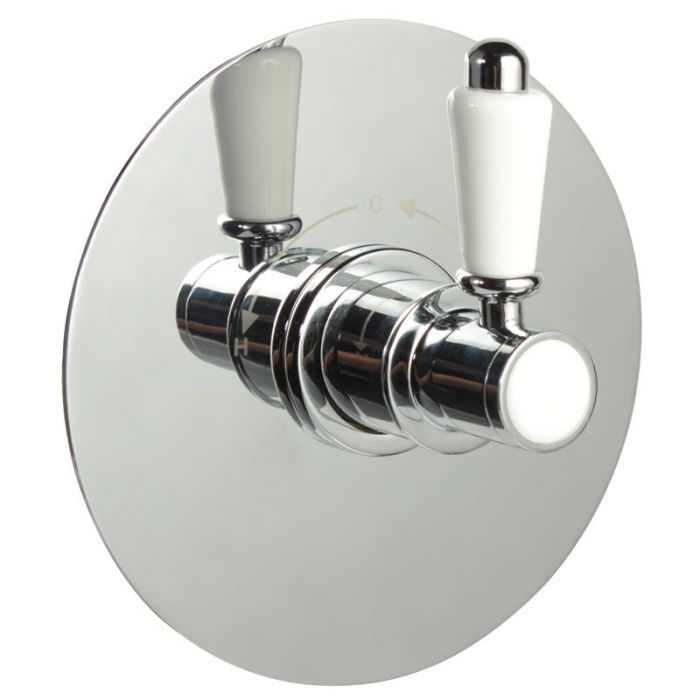 """1/2"""" Sequential Valve, Round Plate & Traditional Lever Handle"""