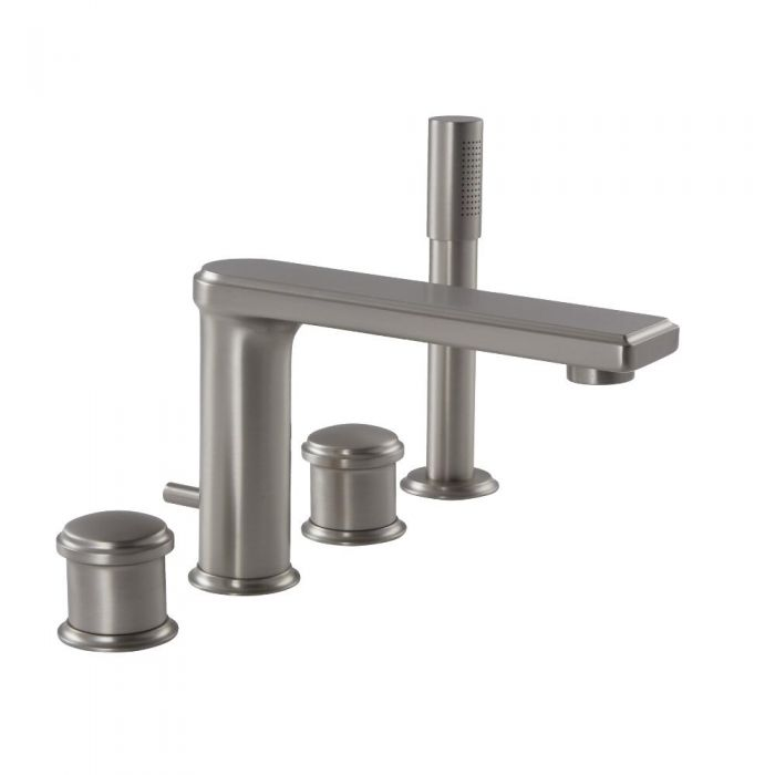 Eclipse Brushed Nickel Roman Tub Faucet With Hand Shower