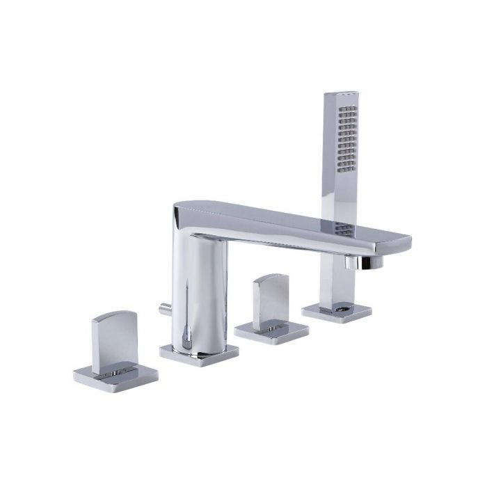 Arcadia Chrome Roman Tub Faucet With Hand Shower