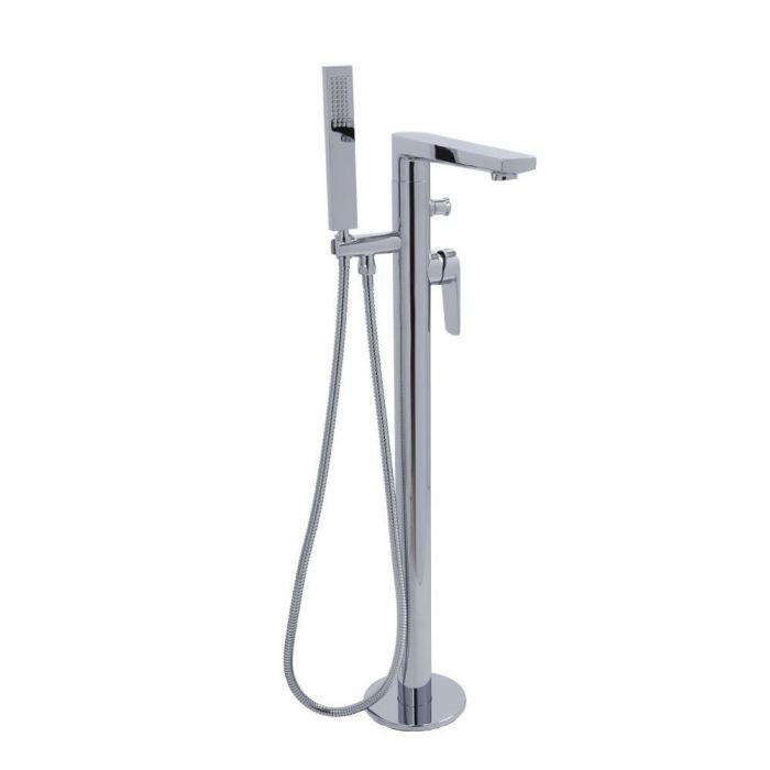 Arcadia - Freestanding Tub Faucet with Hand Shower - Multiple Finishes Available