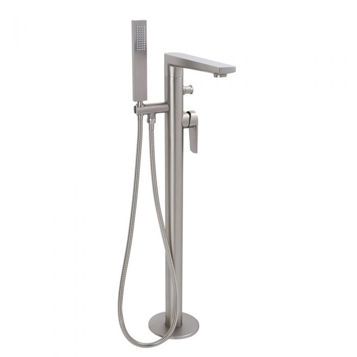 Arcadia - Brushed Nickel Freestanding Tub Faucet with Hand Shower