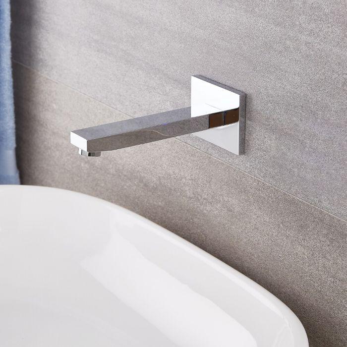 Kubix - Chrome Wall Mounted Tub Spout