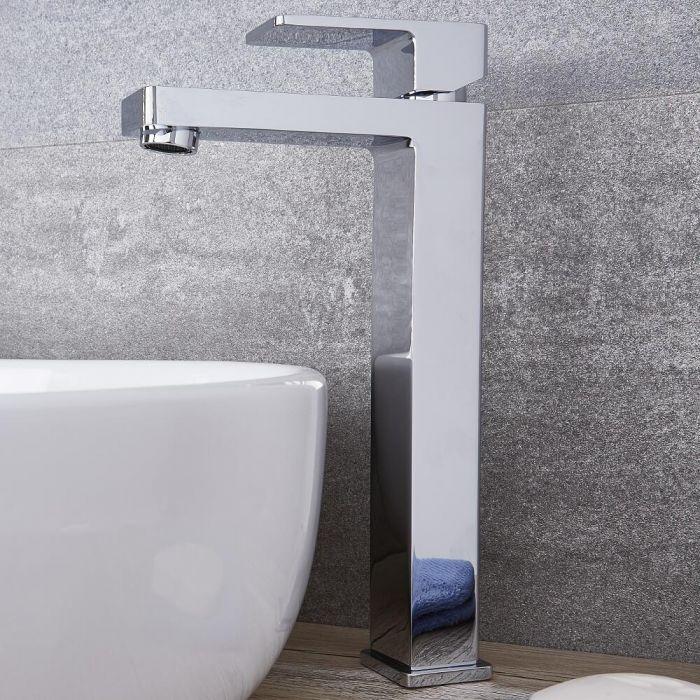 Kubix - Chrome Single-Hole Vessel Faucet