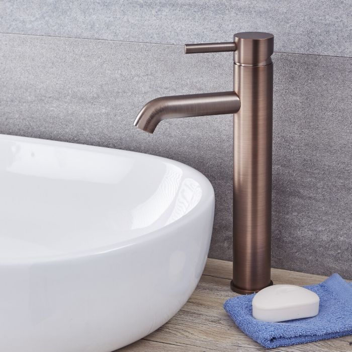Quest - Oil-Rubbed Bronze Single-Hole Vessel Faucet