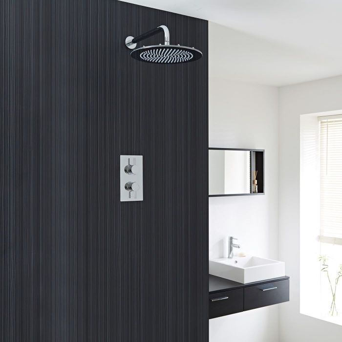 Quest Thermostatic 1 Outlet Shower System with 12