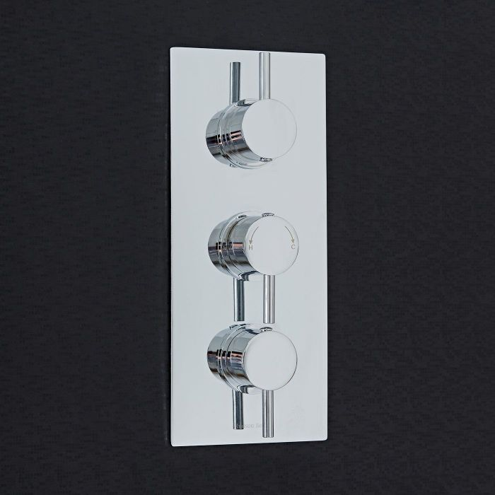 Quest Concealed 3 Outlet Triple with Diverter Thermostatic Shower Valve