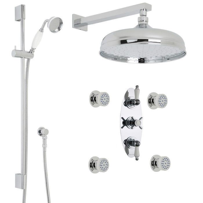 Beaumont Thermostatic Shower System with 12