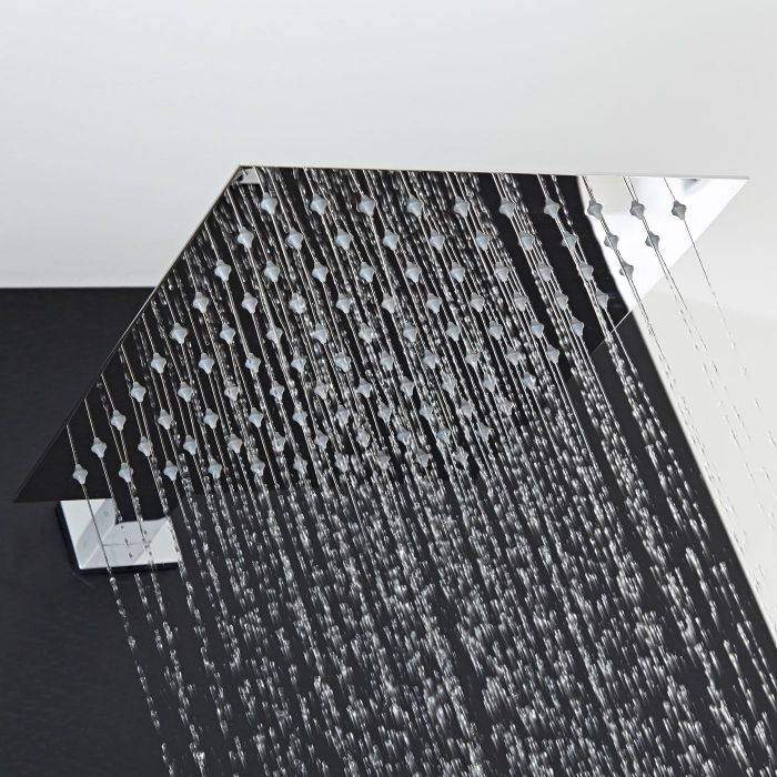 "12"" Square Shower Head with Rectangular Wall Arm"