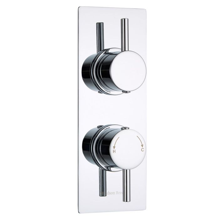 Quest Concealed 2 Outlet Twin with Diverter Thermostatic Shower Valve (Slim Plate)