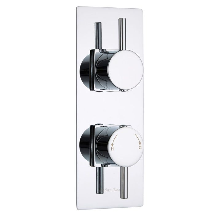 Quest Concealed 1 Outlet Twin Thermostatic Shower Valve (Slim Trim Plate)
