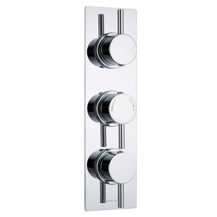 Quest Concealed 2 Outlet Triple Thermostatic Shower Valve (Slim Plate)