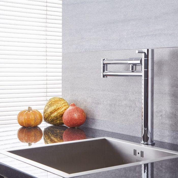 Quest - Chrome Retractable Kitchen Sink Mixer