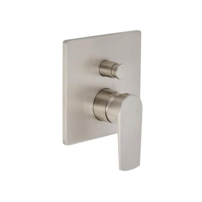 Arcadia - Brushed Nickel Manual Shower Valve with Diverter - Two Outlet