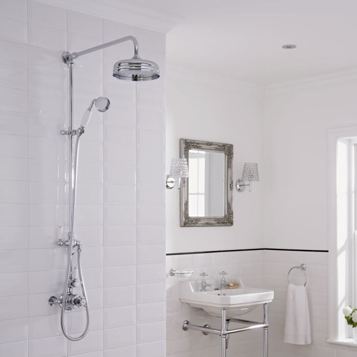 Traditional Grand Rigid Riser Kit with Twin Thermostatic Shower Faucet Valve
