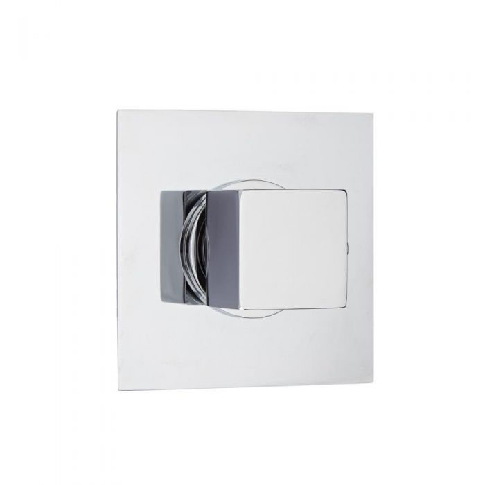 3-Way Diverter Shower Valve with Square Plate and Square Handle