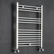 "Linosa - Hydronic Chrome Flat Heated Towel Warmer - 31.5"" x 23.5"""