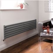 "Revive - Anthracite Horizontal Single-Panel Designer Radiator - 14"" x 63"""