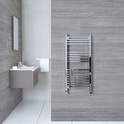 "Select - Hydronic Chrome Heated Towel Warmer - 38.25"" x 17.75"""