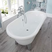 Acrylic Oval Shaped Free Standing Bath Tub with Choice of Feet 70""