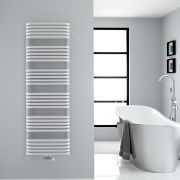 "Arch - White Hydronic Heated Towel Warmer - 60.25"" x 19.75"""