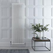 "Regent - White Vertical 2-Column Traditional Cast-Iron Style Radiator - 70.75"" x 22"""