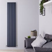 "Revive Air - Anthracite Aluminum Vertical Double-Panel Designer Radiator - 70.75"" x 13.75"""