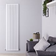 "Revive Air - White Aluminum Vertical Double-Panel Designer Radiator - 70.75"" x 18.5"""