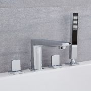 Arcadia - Chrome Roman Tub Faucet with Hand Shower